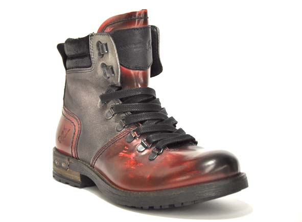 Ambitious boots bottine plates 2524 rouge