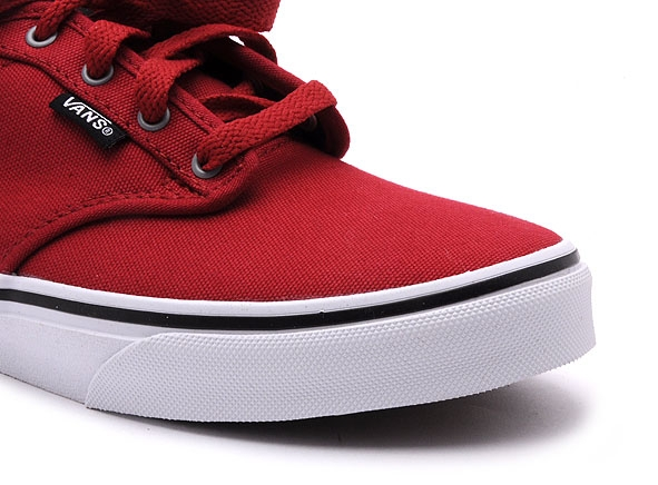 Vans basses atwood canvas rouge
