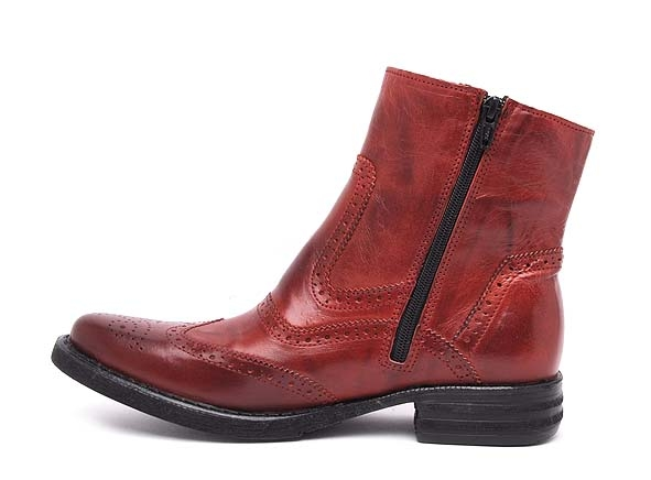 Ambitious boots bottine plates 5103 rouge6738702_3
