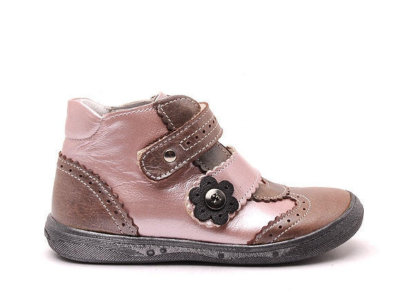 Bellamy boots bottine pepita 180 rose7166702_2