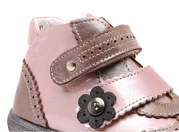 Bellamy boots bottine pepita 180 rose7166702_4