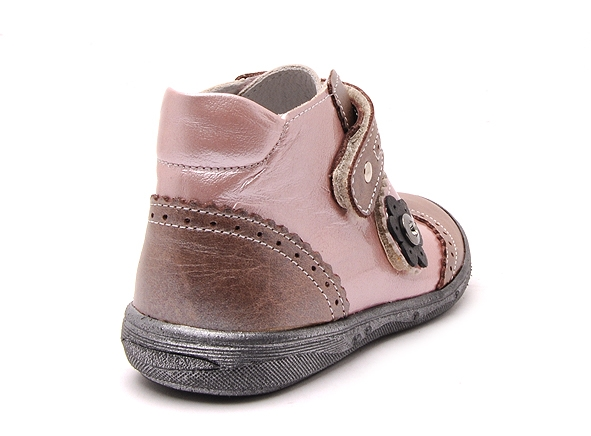 Bellamy boots bottine pepita 180 rose7166702_5