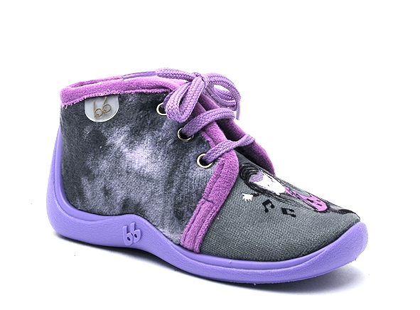 Babybotte chaussons mamout violet