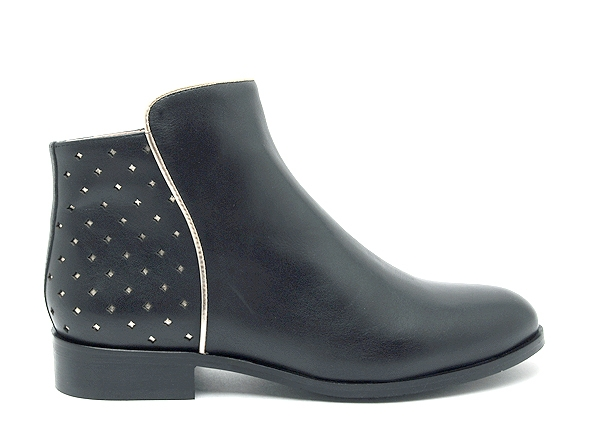 Mellow yellow boots bottine plates charlyn noir7888901_2