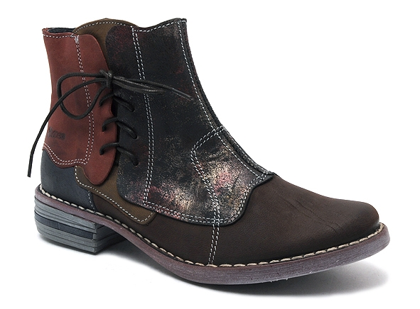 Alce shoes boots bottine plates 8392 marron