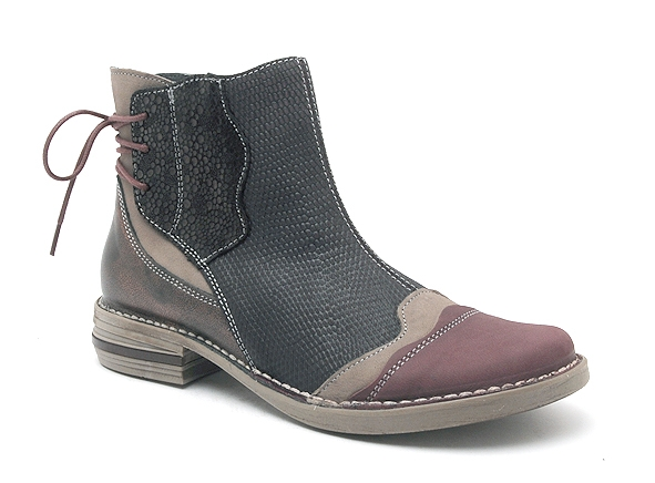 Alce shoes boots bottine plates 8859 bordeaux8496101_2