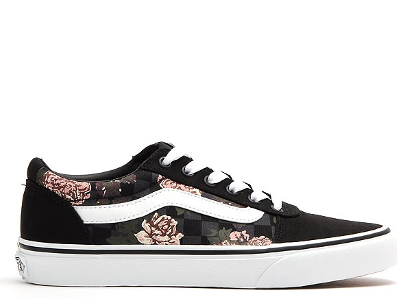 Vans basses wm ward flowers checks noir